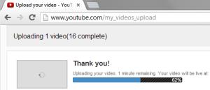 Uploading Kickstarter Thank You Videos