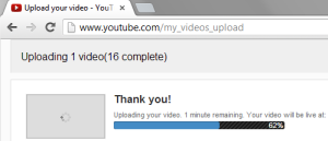 Uploading Kickstarter Thank You Videos